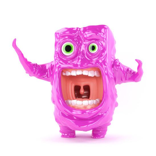 Unique violet crying creature