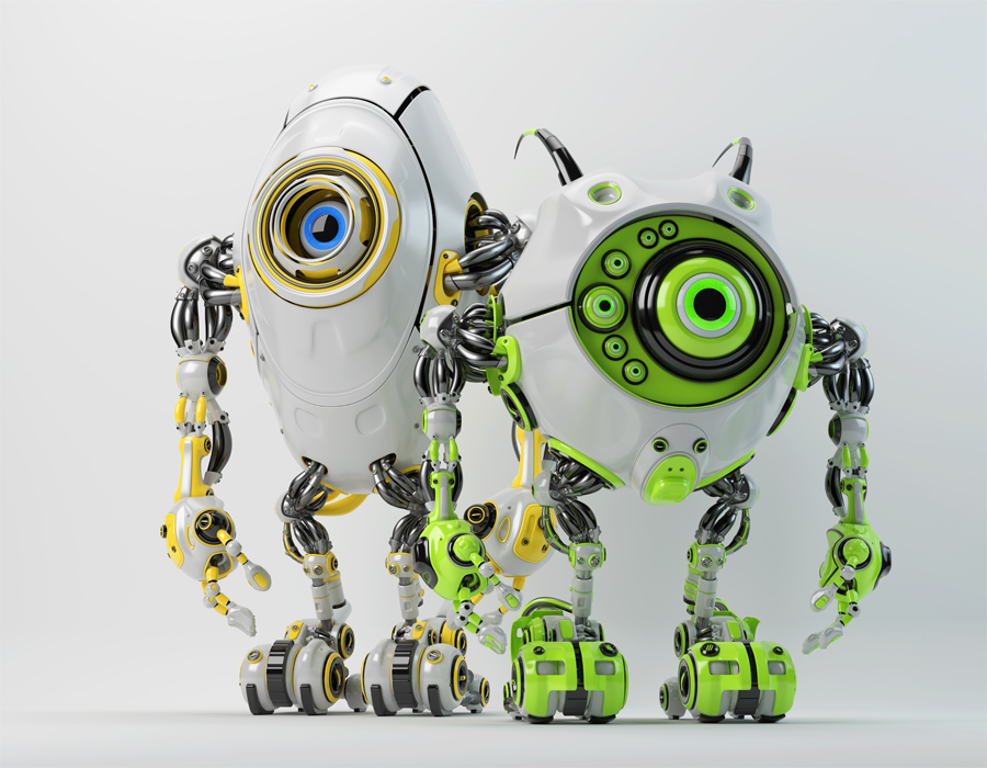 Ufo robotic beetles