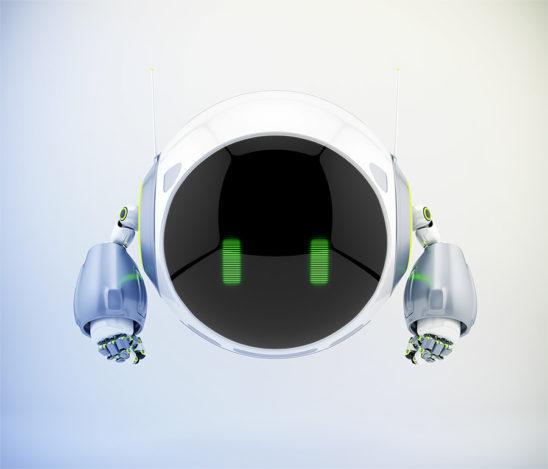 Sleek white-grey aerial turbot character, 3d rendering