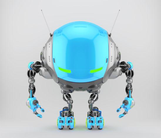 Iobot - futuristic robotic ufo creature, 3d render