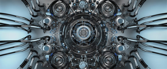 Abstract circle technical and futuristic pattern, 3d illustration