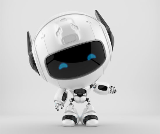 Gesturing cutan robot with funny doggy ears