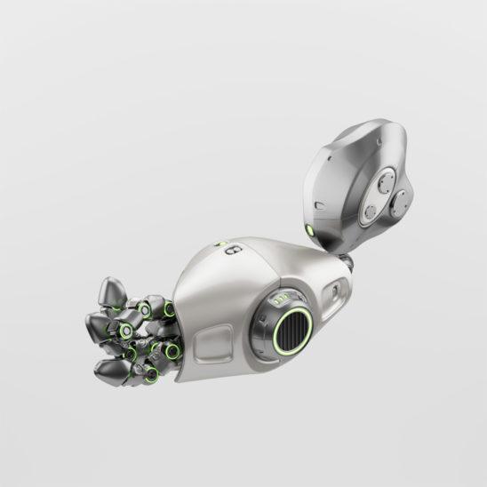 Asking cute robotic arm part