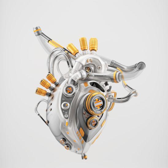Stylish cyber heart
