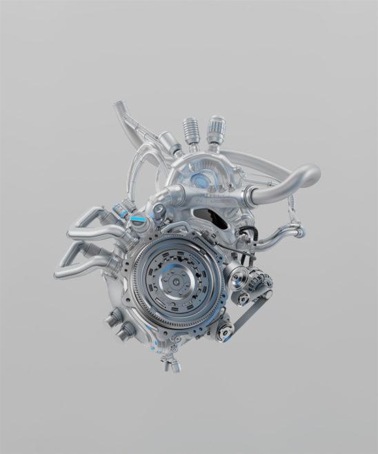 Silver mechanical heart