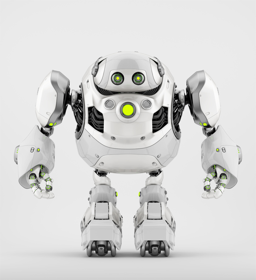 white cyber turtle bot