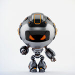 Black angry Robert bot pointing on you