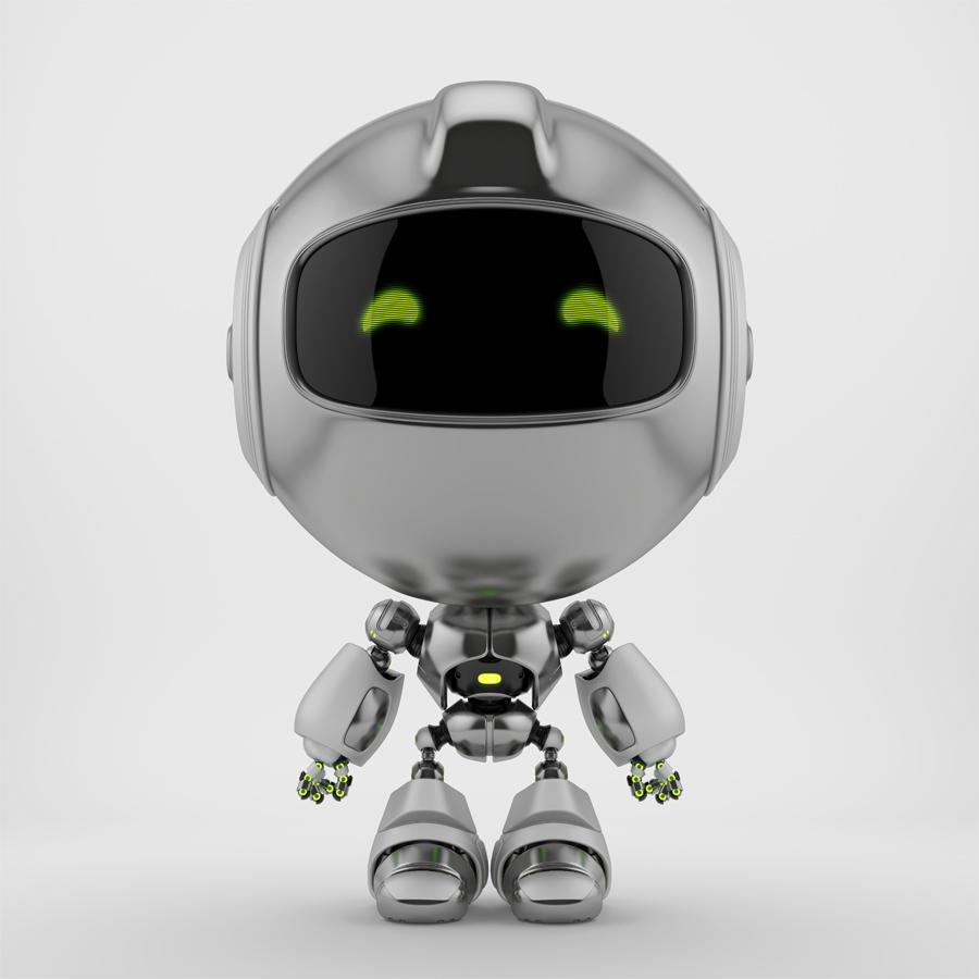 Titanium PR robot in front
