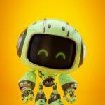 Cute green bot in side angle III