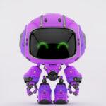 Cute violet bot II