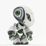 Bbot smart robot in white in side angle