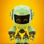 Green android robot toy MOCCO