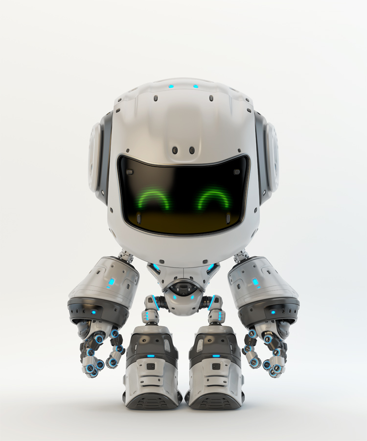 White android robot toy MOCCO