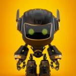cute bot black