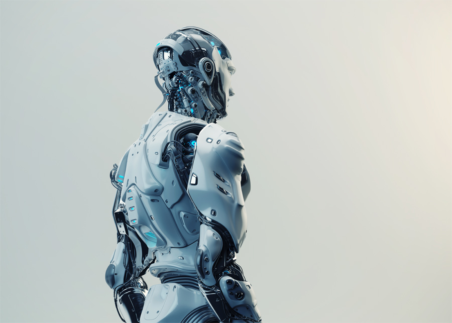 Husky robot backwards