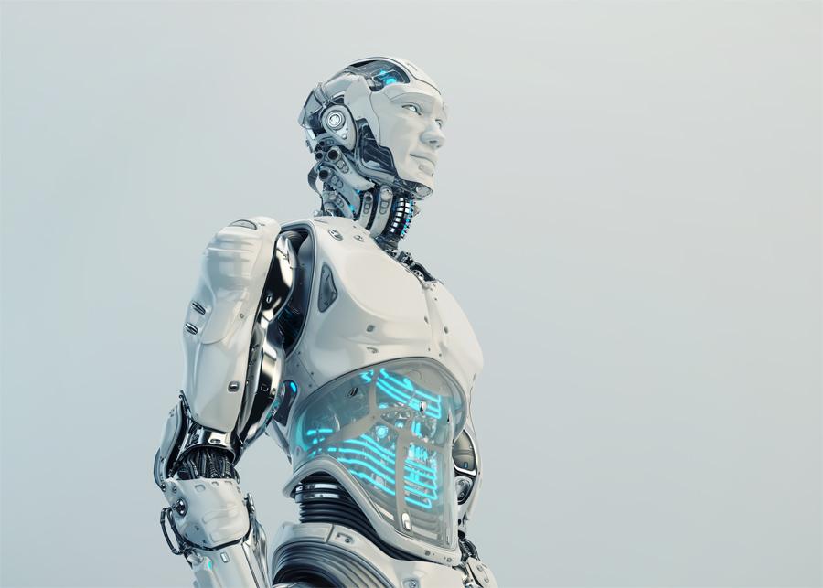 Husky robot with transparent stomach V