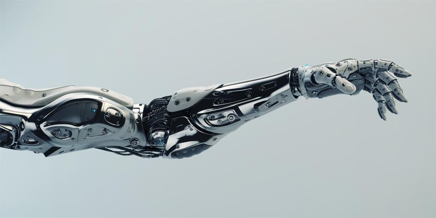 steel robotic arm