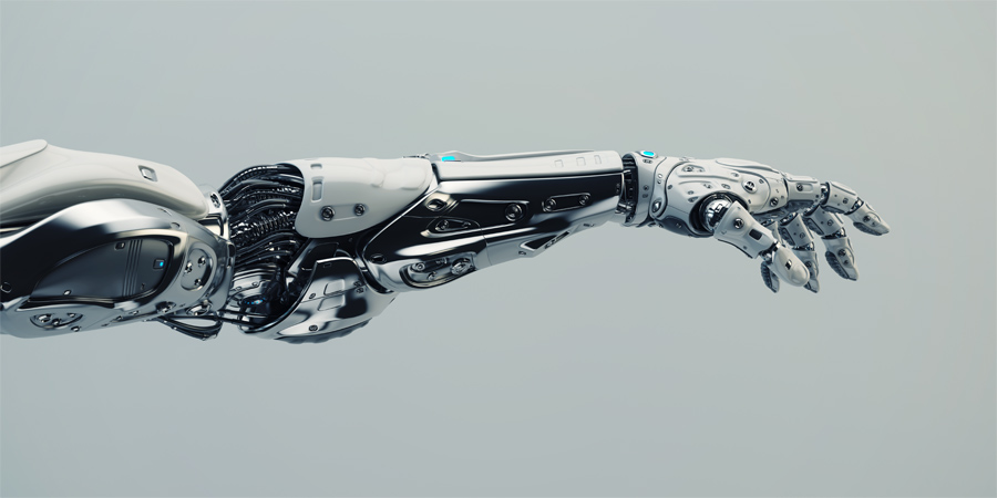 Steel modern robotic arm