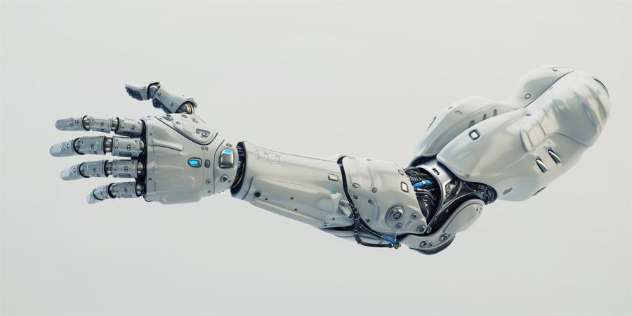 Stylish modern robotic arm